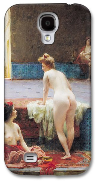 Harem Photographs Galaxy S4 Cases - The Turkish Bath, 1896 Oil On Canvas Galaxy S4 Case by Serkis Diranian