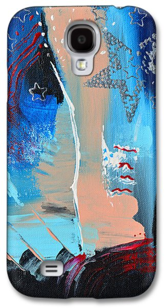 4th July Paintings Galaxy S4 Cases - The Twilights Last Gleaming Galaxy S4 Case by Donna Blackhall