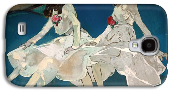 Sisters Drawings Galaxy S4 Cases - The Two Sisters Galaxy S4 Case by Francesc Gose