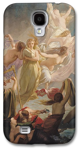 Lute Paintings Galaxy S4 Cases - The Undines or The Voice of the Torrent Galaxy S4 Case by Ernest Augustin Gendron