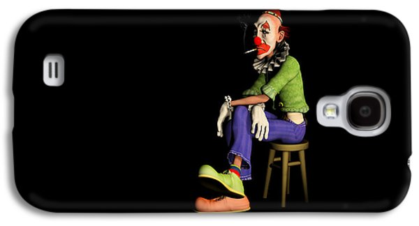 Fed Digital Art Galaxy S4 Cases - The Unhappy Clown Galaxy S4 Case by Liam Liberty