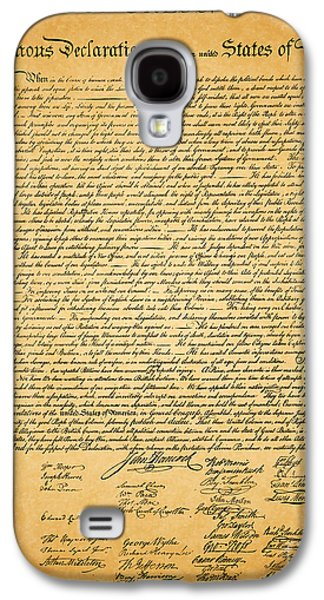 Best Sellers -  - 4th July Galaxy S4 Cases - The United States Declaration of Independence Galaxy S4 Case by Wingsdomain Art and Photography