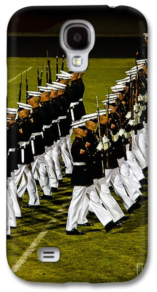Haybale Photographs Galaxy S4 Cases - The United States Marine Corps Silent Drill Platoon Galaxy S4 Case by Robert Bales