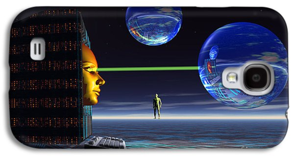 Cyberspace Galaxy S4 Cases - The Universe Of Cyberspace Galaxy S4 Case by Mark Stevenson