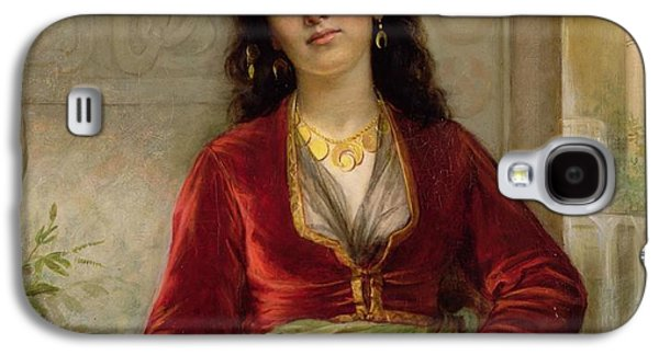 Gold Earrings Galaxy S4 Cases - The Unwelcome Companion , C.1872-73 Galaxy S4 Case by John William Waterhouse