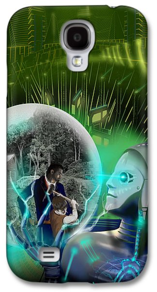 Stellar Paintings Galaxy S4 Cases - The Veneer Clause Galaxy S4 Case by James Christopher Hill