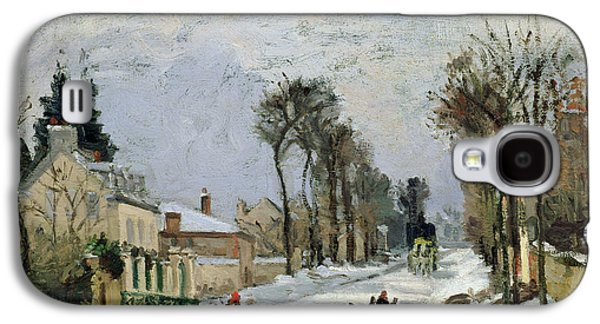 Christmas Cards - Galaxy S4 Cases - The Versailles Road at Louveciennes Galaxy S4 Case by Camille Pissarro