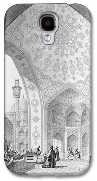 Plans Paintings Galaxy S4 Cases - The Vestibule of the Main Entrance of the Medrese i Shah-Hussein Galaxy S4 Case by Pascal Xavier Coste