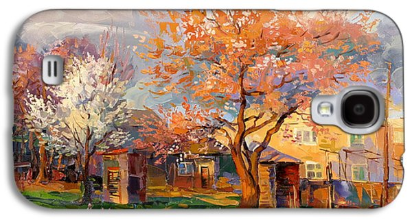 Evening Paintings Galaxy S4 Cases - The village new Ayntap in Armenia Galaxy S4 Case by Meruzhan Khachatryan