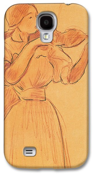The Violin Galaxy S4 Case by Berthe Morisot