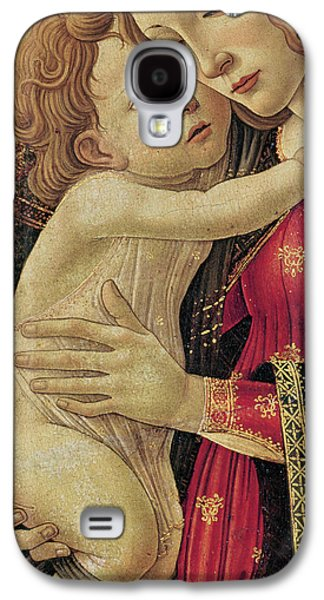 Renaissance Paintings Galaxy S4 Cases - The Virgin and Child Galaxy S4 Case by Sandro Botticelli