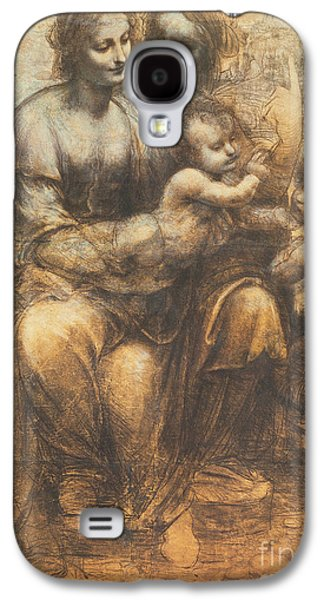 Religious Galaxy S4 Cases - The Virgin and Child with Saint Anne and the Infant Saint John the Baptist Galaxy S4 Case by Leonardo Da Vinci