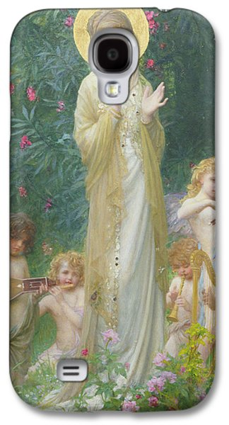 Halo Galaxy S4 Cases - The Virgin in Paradise Galaxy S4 Case by Antoine Auguste Ernest Herbert