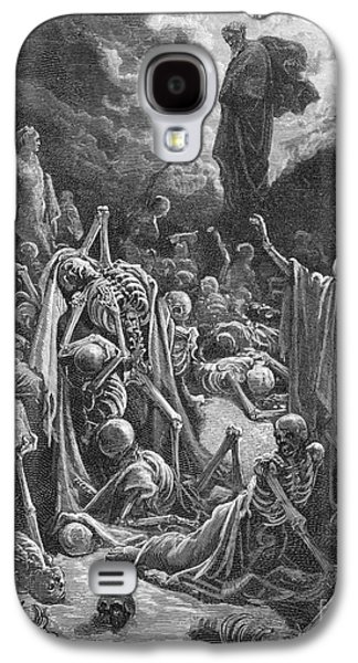 Bible Drawings Galaxy S4 Cases - The Vision of the Valley of Dry Bones Galaxy S4 Case by Gustave Dore