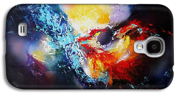 Constellations Paintings Galaxy S4 Cases - The Vortex Galaxy S4 Case by Patricia Lintner
