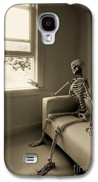 Skeleton Galaxy S4 Cases - The Wait Galaxy S4 Case by Diane Diederich
