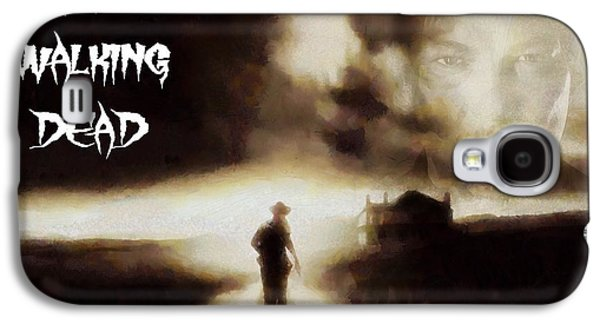Walking Mixed Media Galaxy S4 Cases - The Walking Dead Poster Galaxy S4 Case by Dan Sproul