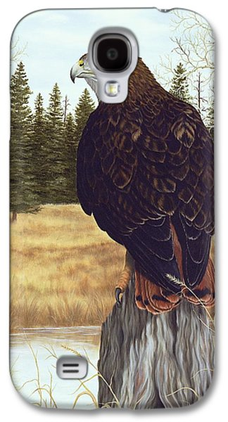 Red Tail Hawks Galaxy S4 Cases - The Watchful Eye Galaxy S4 Case by Rick Bainbridge