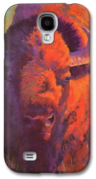 Bison Pastels Galaxy S4 Cases - The Watchful One Galaxy S4 Case by Christine  Camilleri