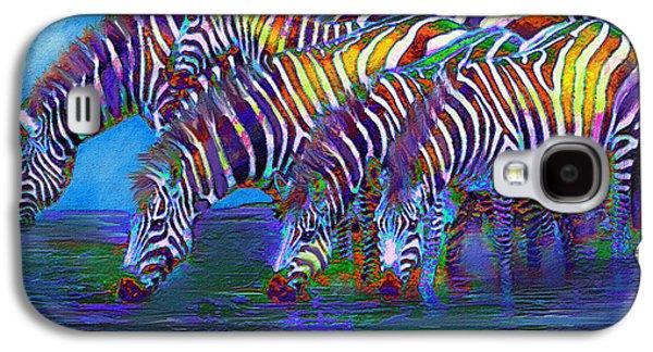Zebra Digital Art Galaxy S4 Cases - The Waterhole Galaxy S4 Case by Jane Schnetlage