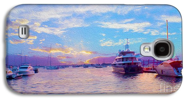 Transportation Mixed Media Galaxy S4 Cases - The Waters are Calm Painting  Galaxy S4 Case by Jon Neidert
