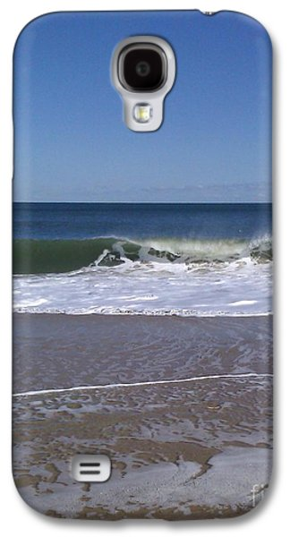Americans Pyrography Galaxy S4 Cases - The Wave Galaxy S4 Case by Arlene Carmel