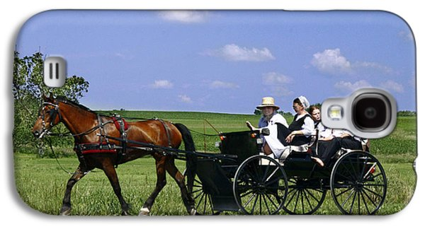 Amish Photographs Galaxy S4 Cases - The Way of the Amish Galaxy S4 Case by Dan Stutzman