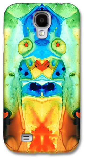 People Mixed Media Galaxy S4 Cases - The Wedding - Abstract Art By Sharon Cummings Galaxy S4 Case by Sharon Cummings