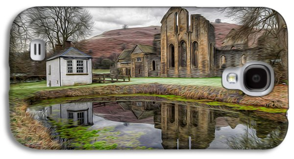 Fish Pond Galaxy S4 Cases - The Welsh Abbey Galaxy S4 Case by Adrian Evans