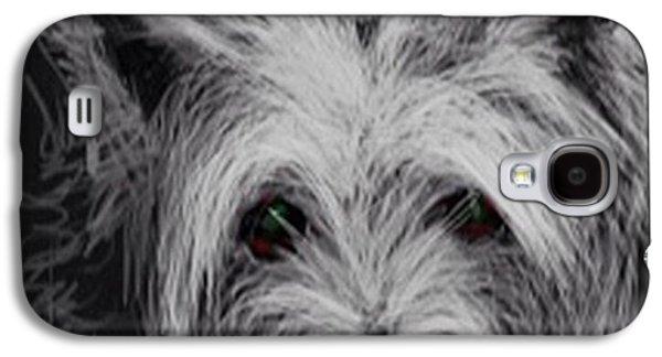 Westie Digital Galaxy S4 Cases - The Westie. 1.5 Galaxy S4 Case by Audrey Hynd-Gaw