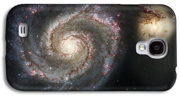 Constellations Galaxy S4 Cases - The Whirlpool Galaxy M51 and Companion Galaxy S4 Case by Adam Romanowicz