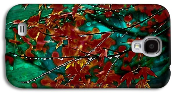 Photo Manipulation Paintings Galaxy S4 Cases - The Whispering Leaves of Autumn Galaxy S4 Case by Mario Carini