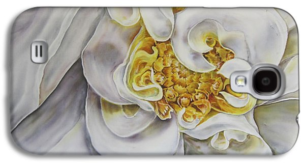 Botany Tapestries - Textiles Galaxy S4 Cases - The White Dahlia Galaxy S4 Case by Violetta Kurbanova