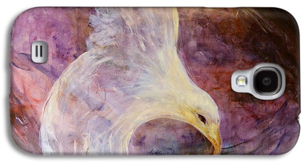 Subconscious Paintings Galaxy S4 Cases - The white eagle Galaxy S4 Case by Shoshana Donaya