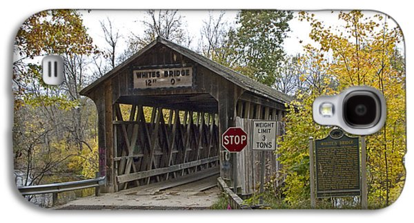 Old Roadway Galaxy S4 Cases - The Whites covered bridge was one of the last of its kind in Michigan Galaxy S4 Case by Randall Nyhof