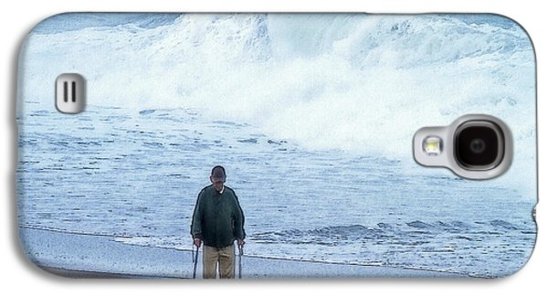 Will Power Photographs Galaxy S4 Cases - The will of Man and the Power of Sea Galaxy S4 Case by Constantine Gregory
