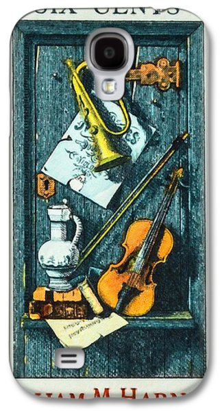 Old Pitcher Paintings Galaxy S4 Cases - The William M.Harnett stamp Galaxy S4 Case by Lanjee Chee