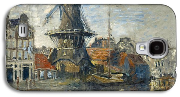 Recently Sold -  - Ancient Galaxy S4 Cases - The Windmill on the Onbekende Gracht Amsterdam Galaxy S4 Case by Claude Monet