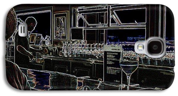 Women Tasting Wine Galaxy S4 Cases - The Wine Bar Galaxy S4 Case by Connie Fox