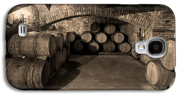 Wine Barrel Photographs Galaxy S4 Cases - The Wine Cave Galaxy S4 Case by Jon Neidert