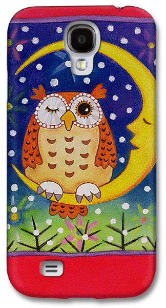 Man In The Moon Galaxy S4 Cases - The Winking Owl, 1997 Pastel On Paper Galaxy S4 Case by Cathy Baxter
