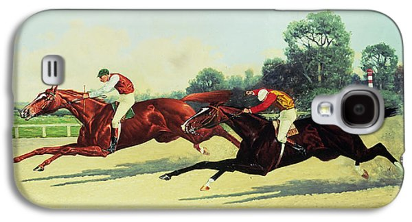 Crops Galaxy S4 Cases - The Winning Post in Sight Galaxy S4 Case by Henry Stull