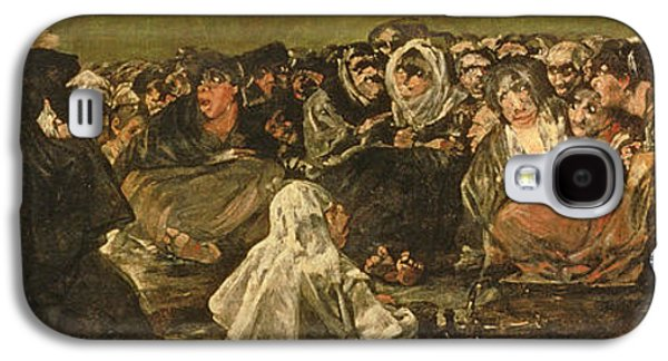 Mural Photographs Galaxy S4 Cases - The Witches Sabbath Or The Great He-goat, One Of The Black Paintings, C.1821-23 Oil On Canvas Galaxy S4 Case by Francisco Jose de Goya y Lucientes