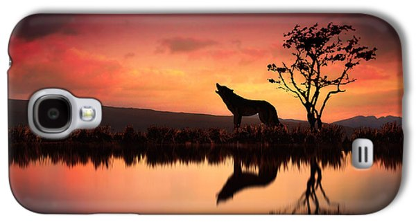 The Wolf At Sunset Galaxy S4 Case by Jennifer Woodward
