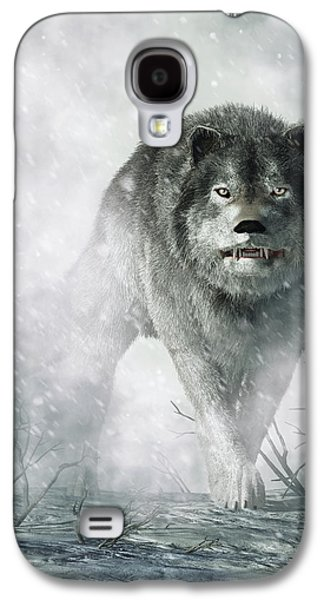 Animal Lover Digital Art Galaxy S4 Cases - The Wolf of Winter Galaxy S4 Case by Daniel Eskridge