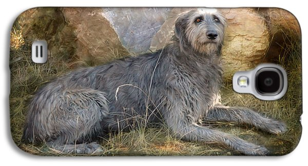 Dogs Digital Art Galaxy S4 Cases - The Wolfhound  Galaxy S4 Case by Fran J Scott