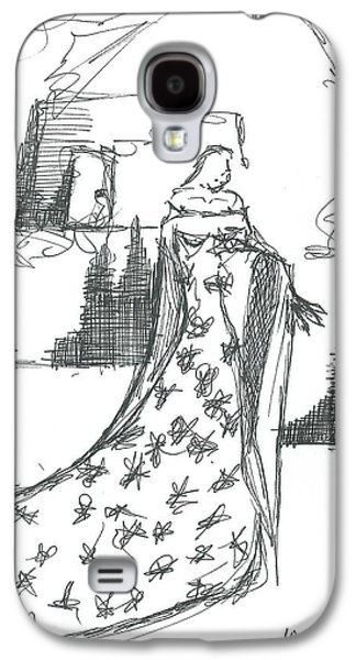 Wandering Star Galaxy S4 Cases - The Wondering Maiden Galaxy S4 Case by Allyson Andrewz