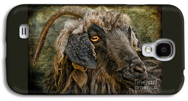 Goat Digital Art Galaxy S4 Cases - The Year Of The Goat Galaxy S4 Case by Lois Bryan
