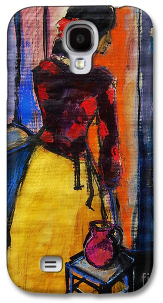 The Yellow Skirt - Pia #9 - Figure Series Galaxy S4 Case by Mona Edulesco