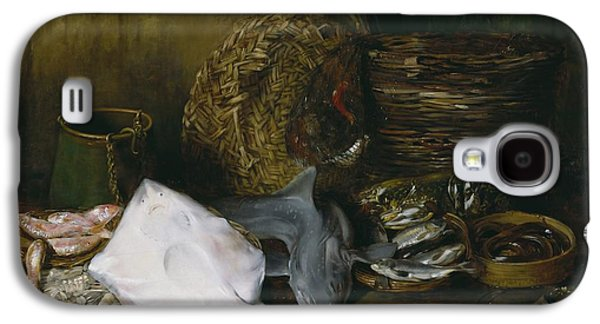 Water Vessels Paintings Galaxy S4 Cases - The Yield of the Waters Galaxy S4 Case by William Merritt Chase